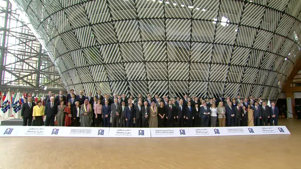 Family Photo At The Brussels Conference On Supporting Future Of Syria And Region